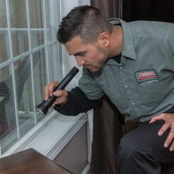 technician doing a home inspection
